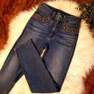 JEN7 7 for All Mankind Embellished Skinny Jeans